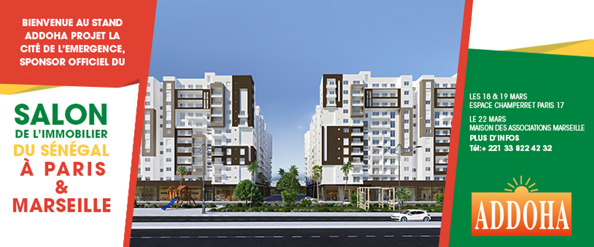 Addoha sponsor officiel du salon de l immobilier du s n gal for Salon de l immobilier marseille